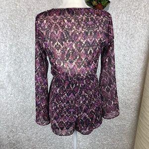 Show Me Your MuMu Pants - Show Me Your Mumu Purple Python Print Romper | XS